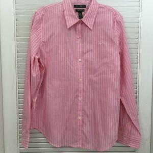 Lauren Ralph Lauren Non Iron Button Down Shirt L